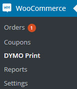 WooCommerce DYMO print page