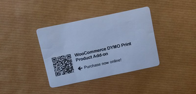 Packaging barcode label with DYMO Print Product add-on barcode label