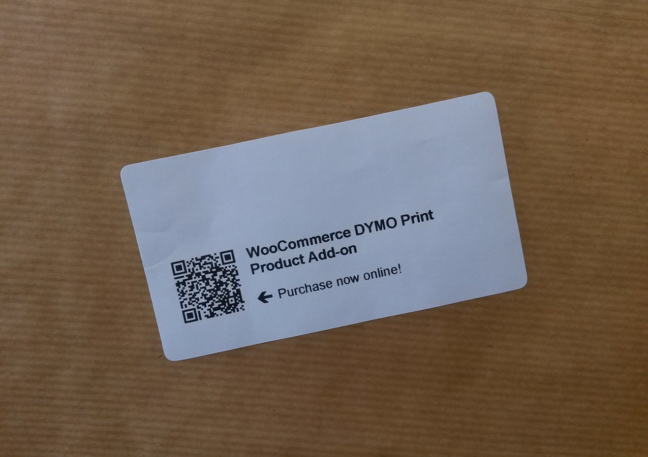 WooCommerce DYMO Print Product Add-on - WP Fortune