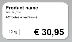 Label with product information