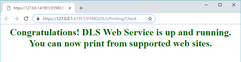 Result from DLS Web Service diagnose